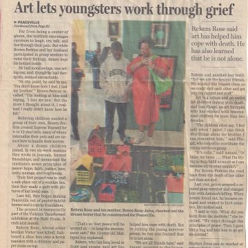 "Boston Globe: ""Art Helps Youngsters Cope with Violent Loss"""