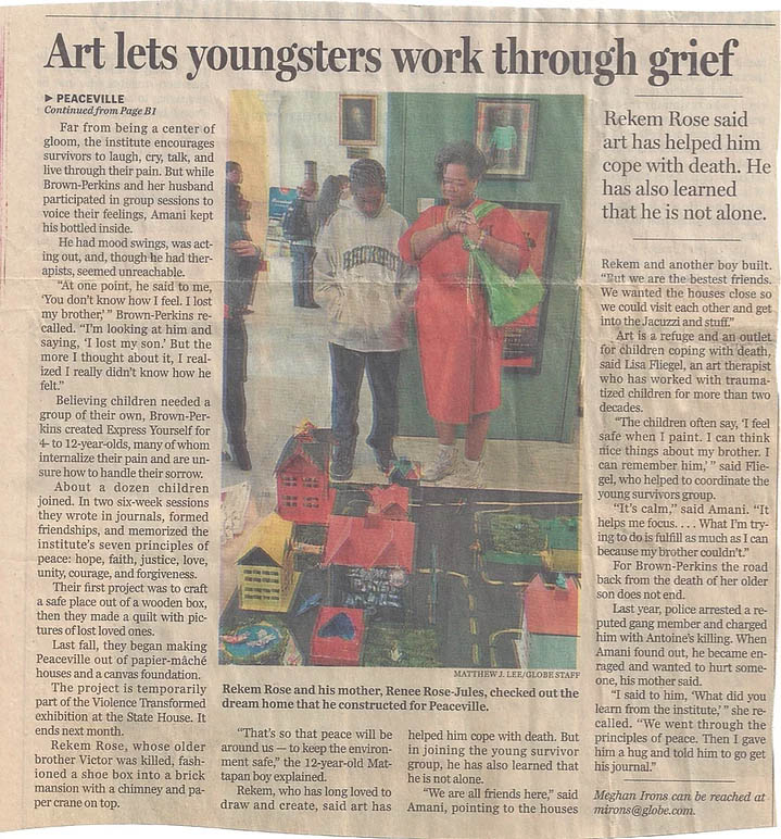 Lisa Fliegel's work with youth and grief